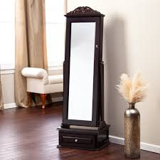 Jewelry Armoire Clearance Jewelry Cabinet Mirror Free Standing 125 Outstanding For Standing