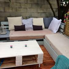 Patio Furniture Made With Pallets - pallet terrace deck with small relaxation corner 101 pallet ideas