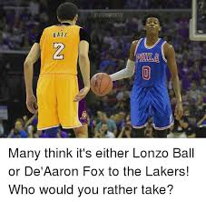 Lakers Meme - ball alahersupater many think it s either lonzo ball or de aaron