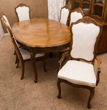 Oak Dining Furniture Thomasville French Provincial Style Oak Dining Table And Chairs Ebth