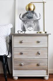 ikea hack driftwood stained rast nightstand for the scandinavian