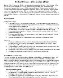 Job Desk Safety Officer Chief Medical Officer Job Description Sample 7 Examples In Word