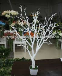 tree without leaves decoration white trunk tree artificial