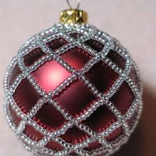 beaded ornament cover handmade