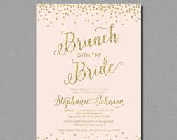 bridal luncheon invitation gold bridal brunch invitation shower gold and white bridal