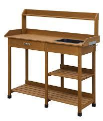 amazon com convenience concepts deluxe potting bench light oak