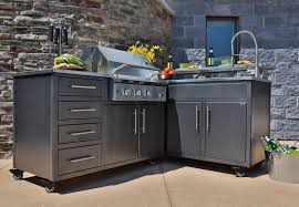 furniture prefab outdoor kitchens in stainless steel for outdoor