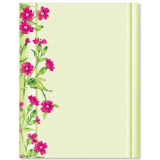 Flower Designs On Paper Frilly Flowers Border Papers Paperdirect