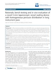 rationale bench testing and in vivo evaluation of a novel 5 mm