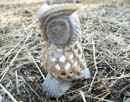 owl candle holder tea light holder soapstone