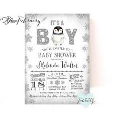 Penguin Baby Shower Decorations Polar Bear Baby Shower Invitation Winter Baby By Afterfebruary