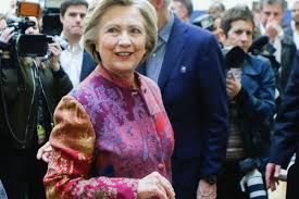 Hillary Clinton Chappaqua Hillary Clinton Voted In A Coat Of Many Colors Racked