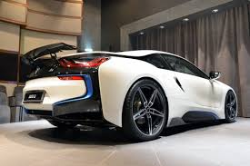 bmw i8 stanced ac schnitzer tuned bmw i8 on display at abu dhabi dealership