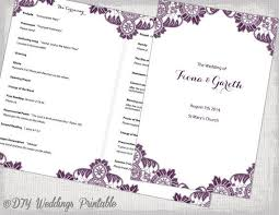 Wedding Booklet Templates Best 25 Wedding Program Templates Ideas On Pinterest Diy