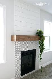 wood mantel mantels red brick fireplace ideas rustic fireplace
