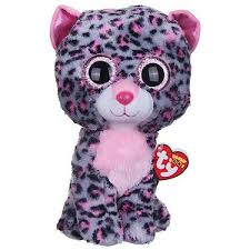 ty beanie boo buddy tasha leopard soft toy entertainer
