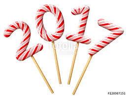 new years stuff new year 2017 in shape of candy on wooden stick year number of