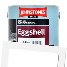 johnstones trade eggshell colour jasmine white 2 5l