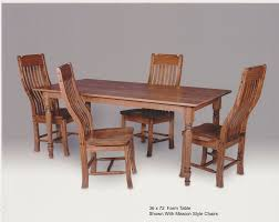 hand made oak farm table with mission style chairs by the master u0027s
