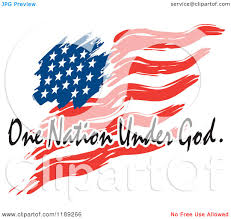How To Paint American Flag Cartoon Of A Wavy Painted American Flag With One Nation Under God