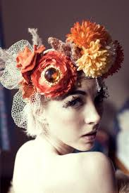 floral headdress bridal flower headdress items similar to fall flower pearl