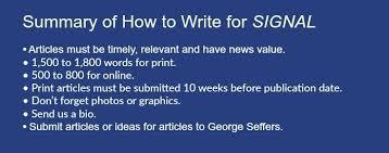 signal writers guide signal magazine