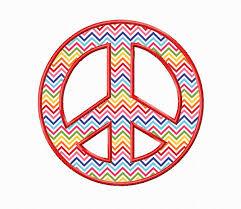 peace sign applique machine embroidery design machine embroidery