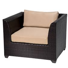 Outdoor Wicker Chair With Ottoman Tk Classics Barbados 17 Piece Outdoor Wicker Patio Furniture