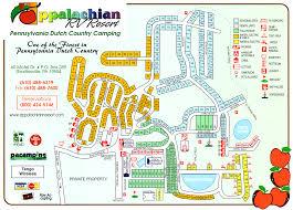 Pennsylvania Attractions Map by Rv Resort Map Appalachian Rv Resort Shartlesville Pa