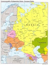 european russia map cities russia and the former soviet republics maps perry castañeda map