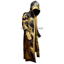 Goldust Halloween Costume Wrestler Goldust Hooded Leather Coat