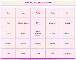 coloring u0026 activity pages bridal shower bingo