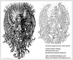 angel and demon tattoos custom tattoo designer online