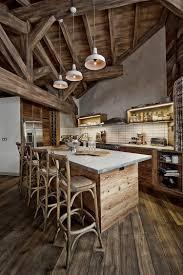 cuisine bois design cuisine bois de récupération en 20 idées d u0027aménagement rustique