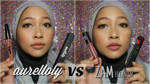 Lipstik Zaskia Adya Mecca aurelloly versus zameccanism review liquid lipstick selebritis