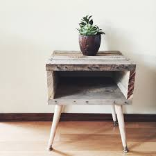 rustic wedge end table wedge end table image cole papers design white wooden wedge end
