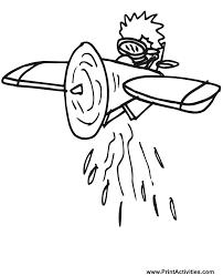 airplane coloring cartoon crop duster