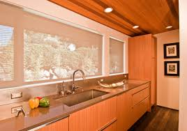 ash wood chestnut prestige door mid century modern kitchen