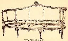 canape louis xv grand canapé gondole louis xv meuble de style
