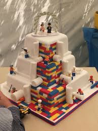 fun cool 3 tiered birthday cake for the lego love kids