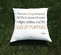 great pumpkin halloween throw pillow custom pillow cover