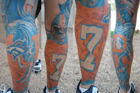 photo john elway jersey tattoo denver colorado neighbors