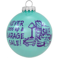 blue garage sale glass ornament hobbies ornaments