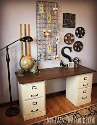 Diy File Cabinet Desk I The Desk With The 2 Filing Cabinets Home Sweet Home
