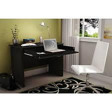 Small Black Desk Canada South Shore Work Id Desk Pure Black The Home Depot Canada