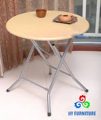 round wooden folding table home furniture portable metal folding round wooden coffee tea tables