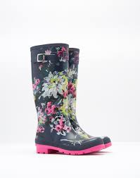 womens boots joules printed navy floral boots joules us shoes