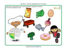 my plate activity for children vegetables food group make a