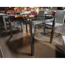 enterprise extendable glass dining table all world furniture