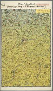 Mail Map The Daily Mail Bird U0027s Eye Map Of The British Front Ca 1916 1918
